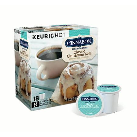 Cinnabon Classic Cinnamon Roll Keurig Single-Serve K-Cup Pods, Light Roast Coffee, 18 Count