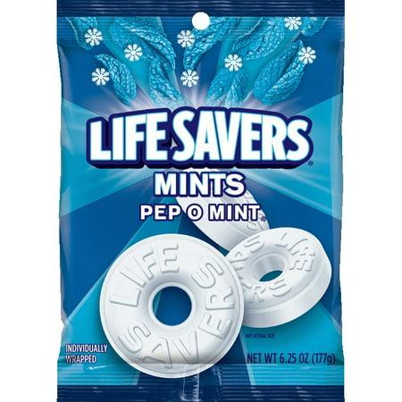 Life Savers Pep O Mint Candy Bag, 6.25 ounce