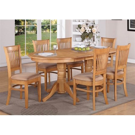 pc counter dining table and chair set in oak finish