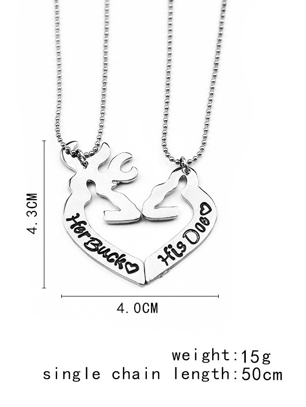Personality 2PCS THANK YOU FOR BEING BESIDE ME Couple Necklace Key Pendants