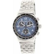 Swatch Men's Irony YVS423G Silver Stainless-Steel Swiss Quartz Fashion Watch