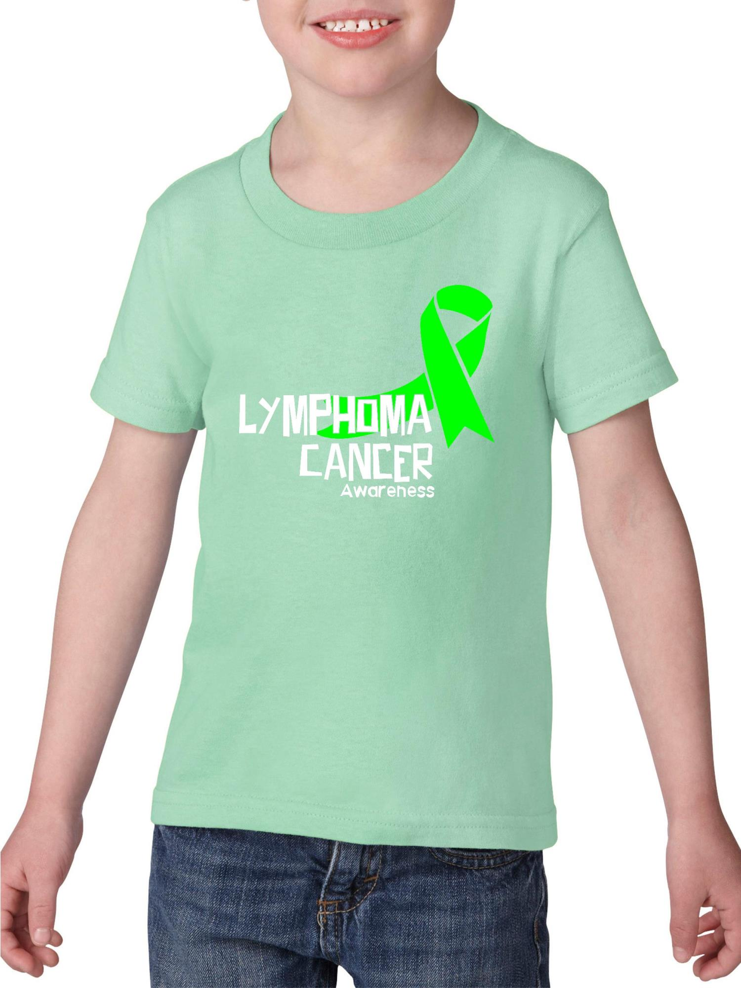 Lymphoma Cancer Awareness Heavy Cotton Toddler Kids T-Shirt Tee Clothing