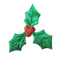 AkoaDa Impeccable 100Pcs Craft 3Cm Red Fruit with Green Leaves Christmas Tree Decoration Supplies DIY Art Fabric Accessories in fine Style