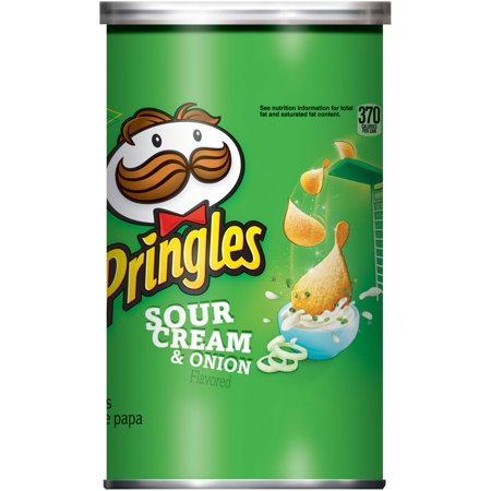 Pringles Sour Cream & Onion Flavored Potato Crisps 2.5oz