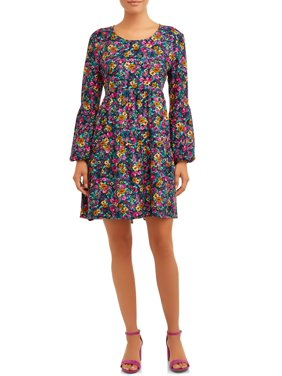 Time and Tru Women's Tiered Peasant Dress