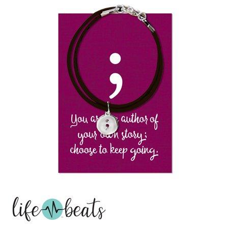 Lifebeats Semi-Colon Wrap Bracelet