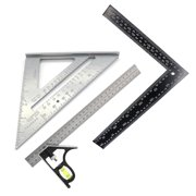 Angle Ruler Small Base 30cm+Cast Aluminum Triangle 7 Inch Rafter Measuring Tool