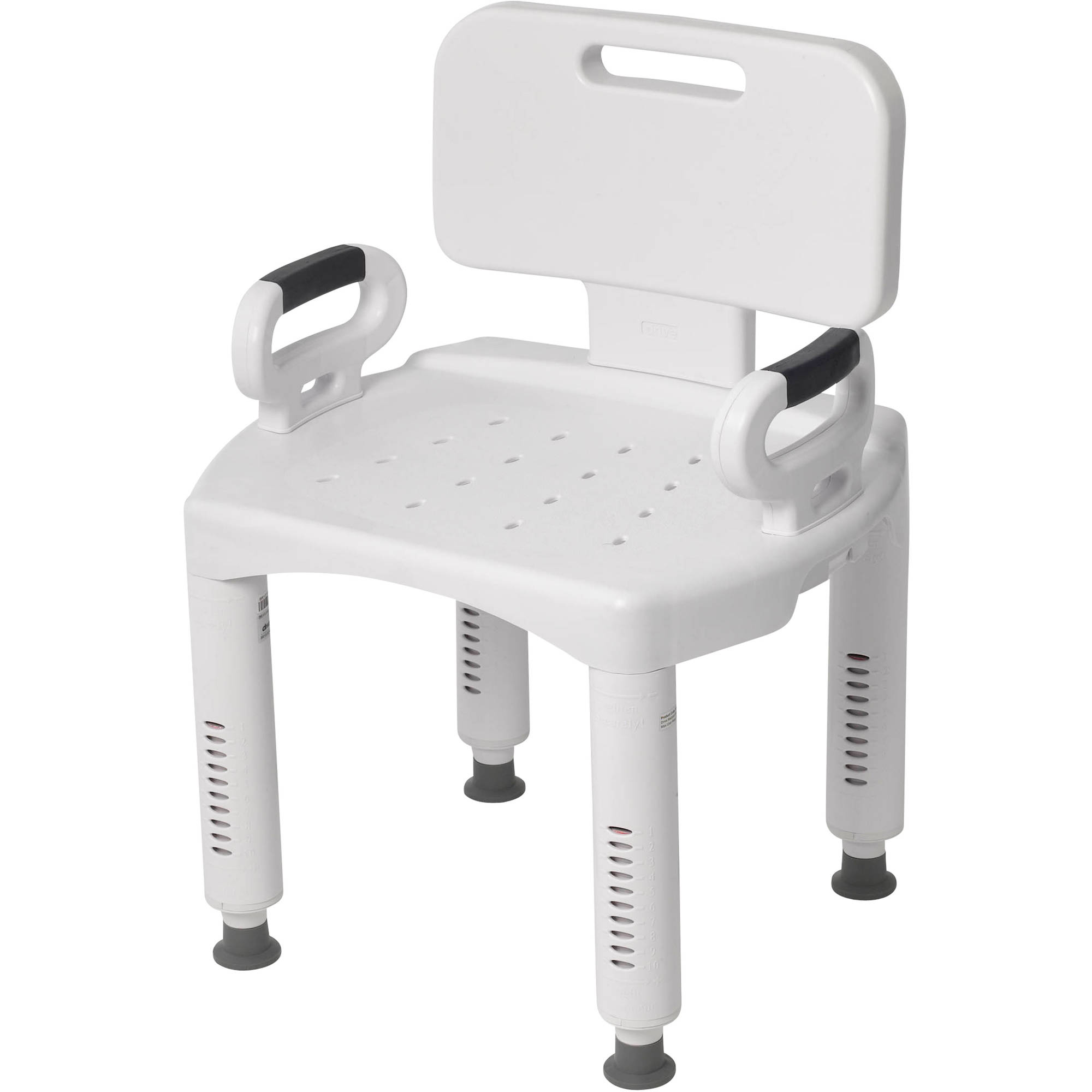 drive medical premium series shower chair with back and arms walmartcom