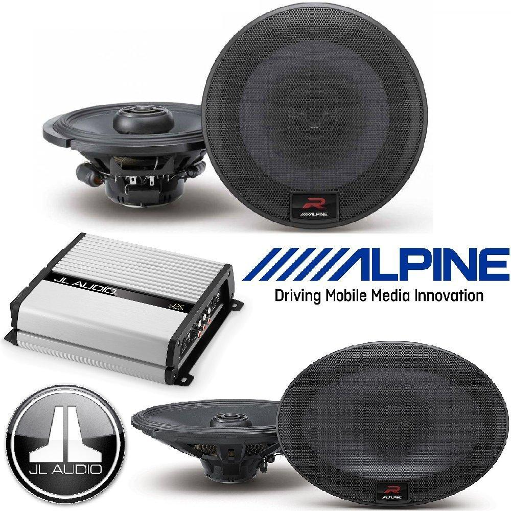 "Alpine 6.5 Inch 300W Component 2-Way Car Speakers 6""X9"" 300W Loud Type R Coaxial 2-Way Silk Tweeters... by Cache%2C Alpine"