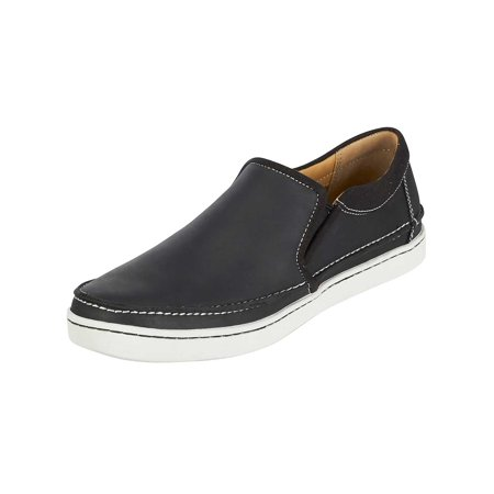 05725c93bcd03 Sebago - Sebago Mens Ryde Slip-On Sneakers in Black Leather ...