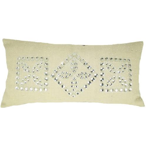 Design Accents LLC Jewel Frame Jute Throw Pillow