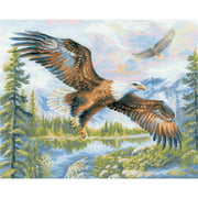 """Free Fall Counted Cross Stitch Kit, 19.75"""" x 15.75"""", 14-Count"""