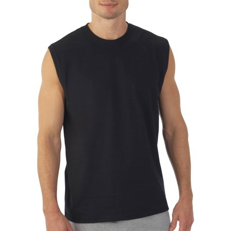 Fruit Of The Loom Mens Muscle T Shirt With Rib Trim