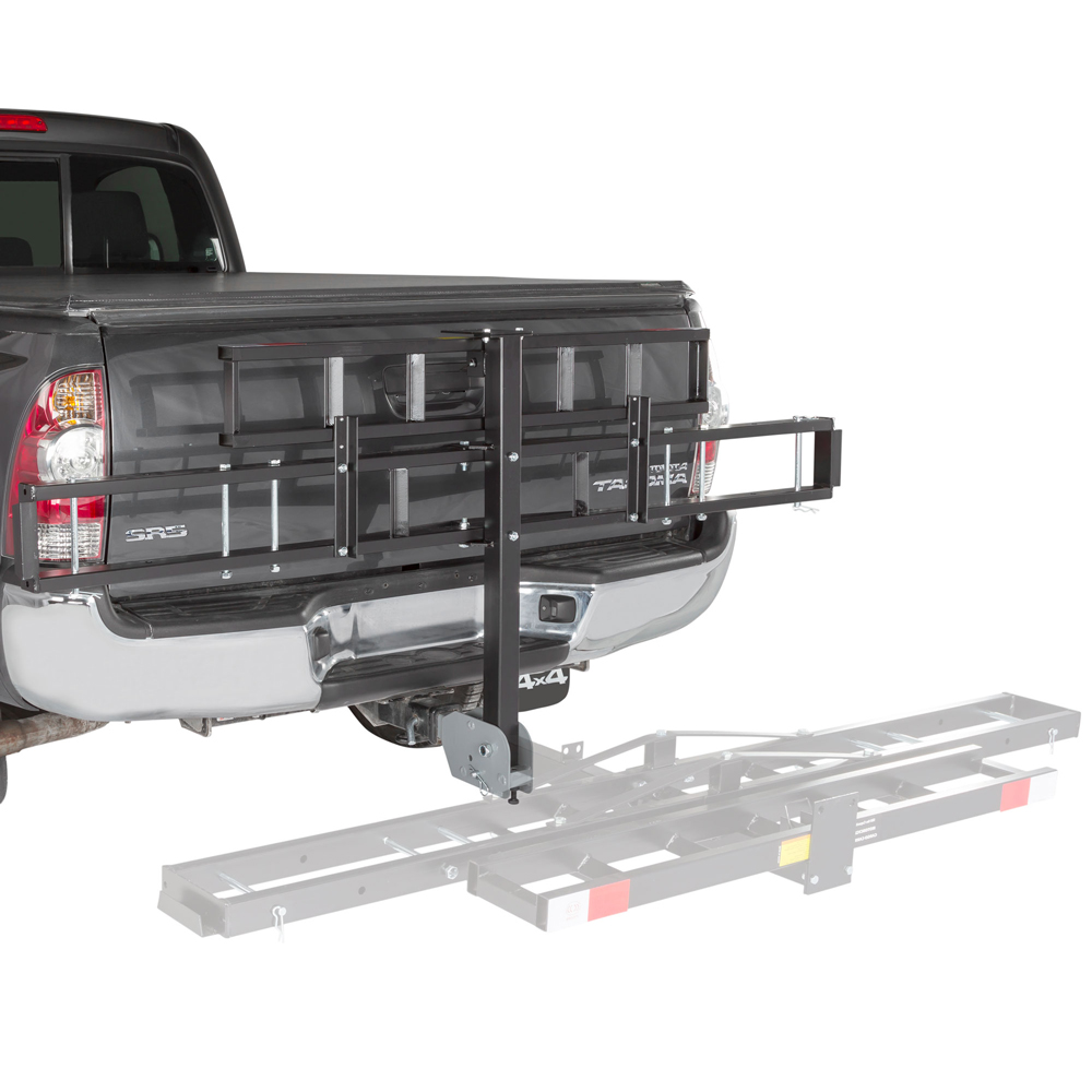 Folding Hitch Mounted Off-Road Dirt Bike Carrier Rack with Ramp by Black Widow