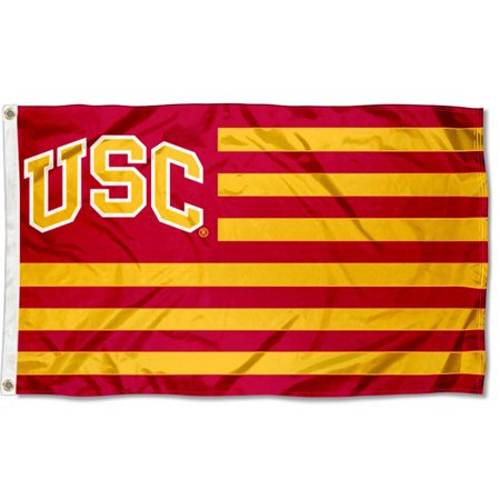 USC Trojans American Flag Design 3' x 5' Flag Usc Trojans Pennant