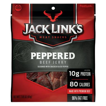 Jack Links Beef Jerky, Peppered, 2.85oz