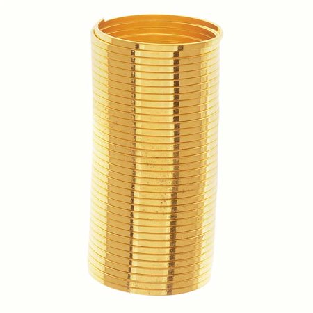 - Beadalon Gold Plated Ring Size Flat Memory Wire 20mm Diameter 33 Loops (0.35 Oz)