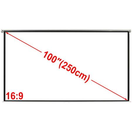 Manual Projection Scr. 78.7x60.2 in. Matt White 4:3 Wall
