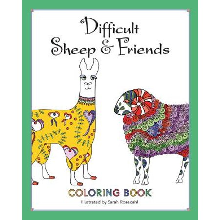 - Difficult Sheep & Friends : Coloring Book