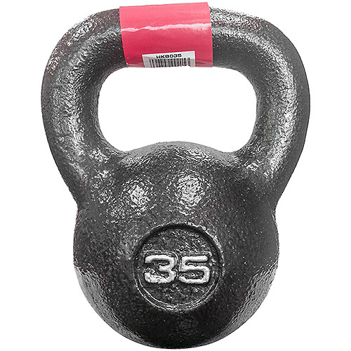 Marcy 35 lb Cast Iron Kettle Bell: HKB-035