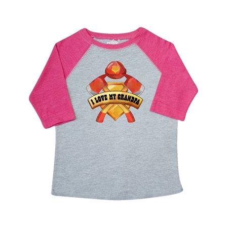 I Love My Grandpa- Firefighter Axes, Badge, Helmet Toddler T-Shirt