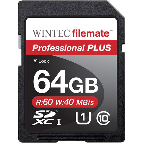 Wintec Filemate Professional Plus 64GB SDHC UHS-1 Memory Card Class 10