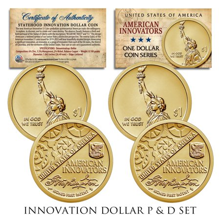 American Innovation State $1 Dollar Coin 2018 1st Release 2-Coin Set P & D Mints Olympic Coin Sets