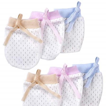 Cunina Infants No Scratch Mittens and Baby Gloves for 0-6 Months Baby Boys Girls and Newborn (Scratch Mittens)