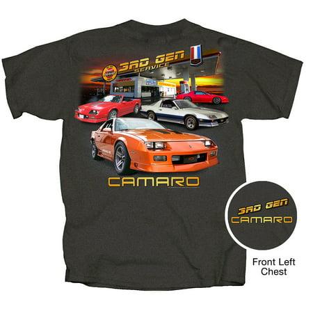 Joe Blow Cv3rd Gy Chevy 3Rd Generation Camaro Short Sleeve Adult T Shirt Tweed