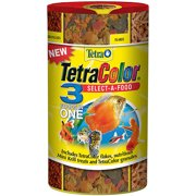TetraColor 3-in-1 Tropical Fish Flake Food, 1.98-Ounce