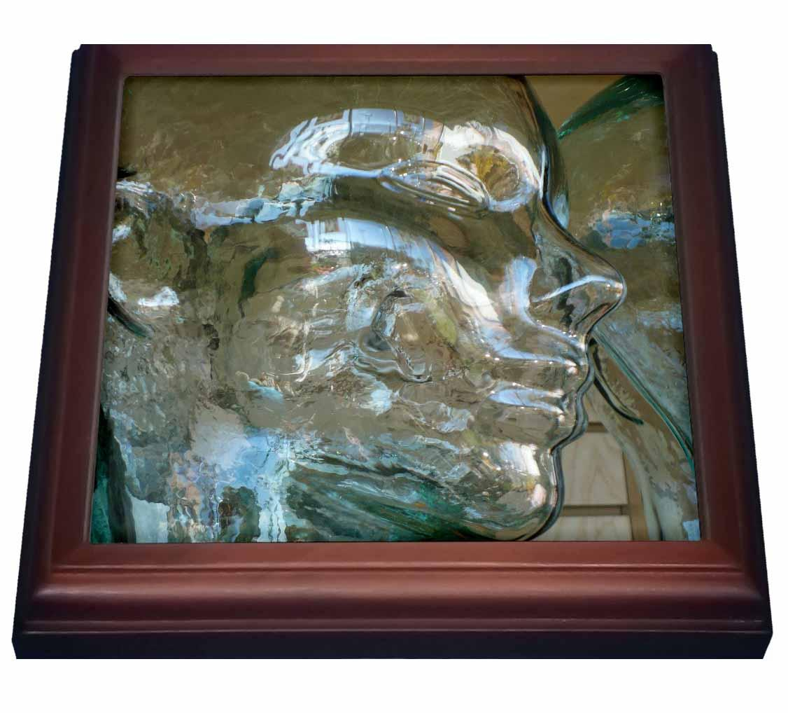 3dRose Clear Thoughts, Trivet with Ceramic Tile, 8 by 8-inch