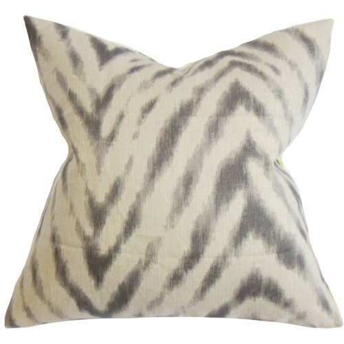 The Pillow Collection Quay Zigzag Linen Throw Pillow by The Pillow Collection