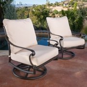 Outdoor Swivel Chair in Brown Sand - Set of 2
