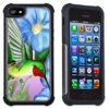 Apple iPhone 6 Plus / iPhone 6S Plus Cell Phone Case / Cover with Cushioned Corners - Hummingbird & Flowers
