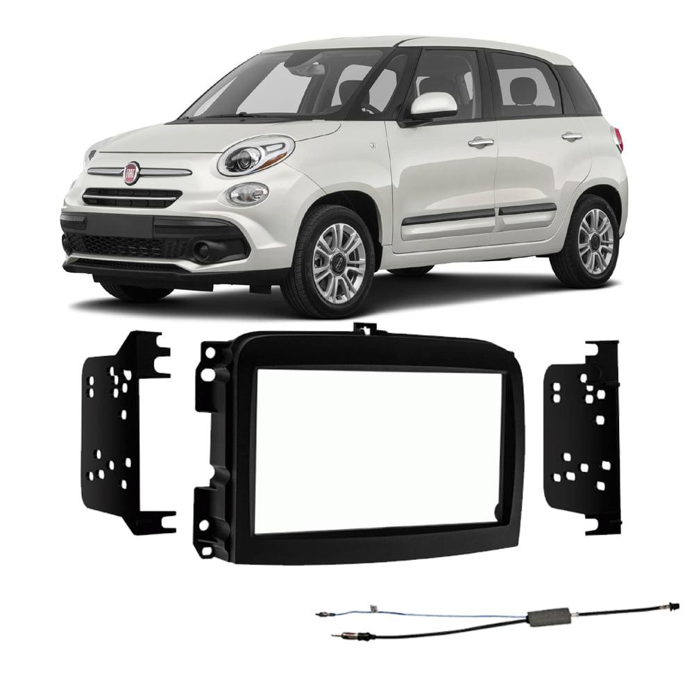 Fiat 500l 2014 2018 Double Din Stereo Harness Radio Install Dash Kit Package New Walmart Com Walmart Com