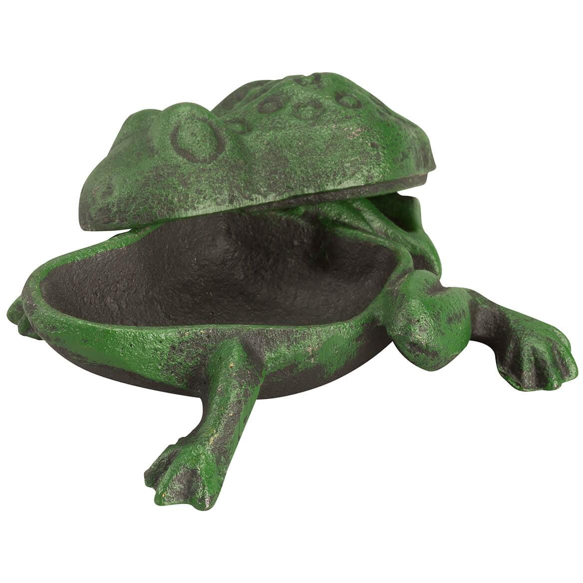 """Cast Iron Frog /""""Key Hider/"""" Garden Statue Decoration"""