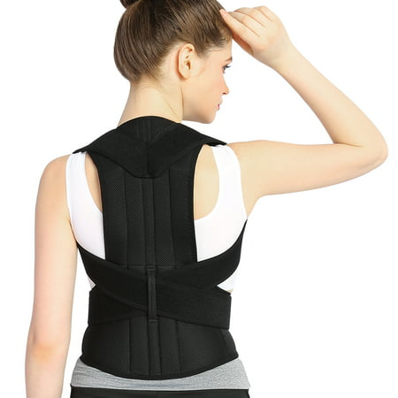 Dilwe Posture Corrector Back Support Brace for Women and Men (Black)