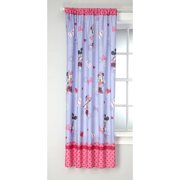 Disney Minnie Mouse Bow Power Girls Bedroom Curtain Panel, 63-inches in L