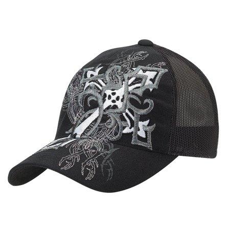Blazin Roxx - Blazin Roxx Women s Flexfit Cross Graphic Design Cap Black OS  - Walmart.com 1cea076bc0