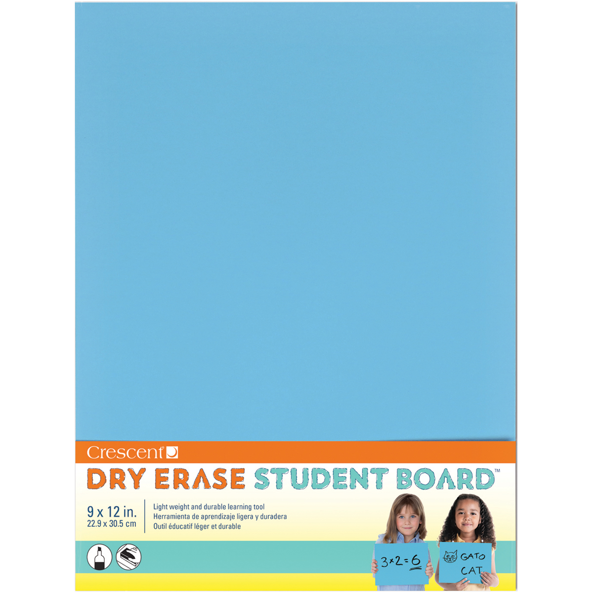 "Student Dry-Erase Board 9""X12""-Light Blue"