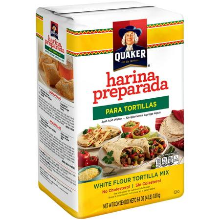 Quaker White Flour Tortilla Mix, 64.0 OZ