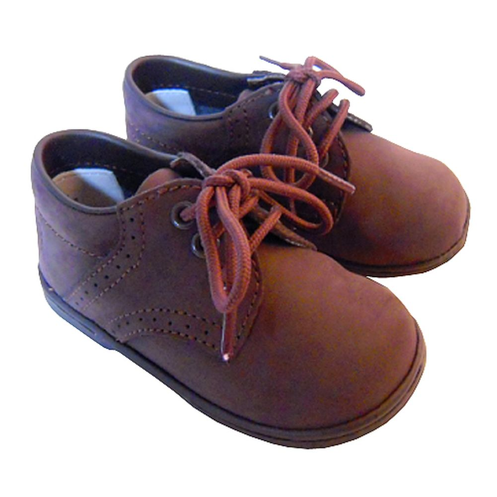 Baby Toddler Boys Brown Classic Saddle Style Dress Shoes Size 1-7 ...