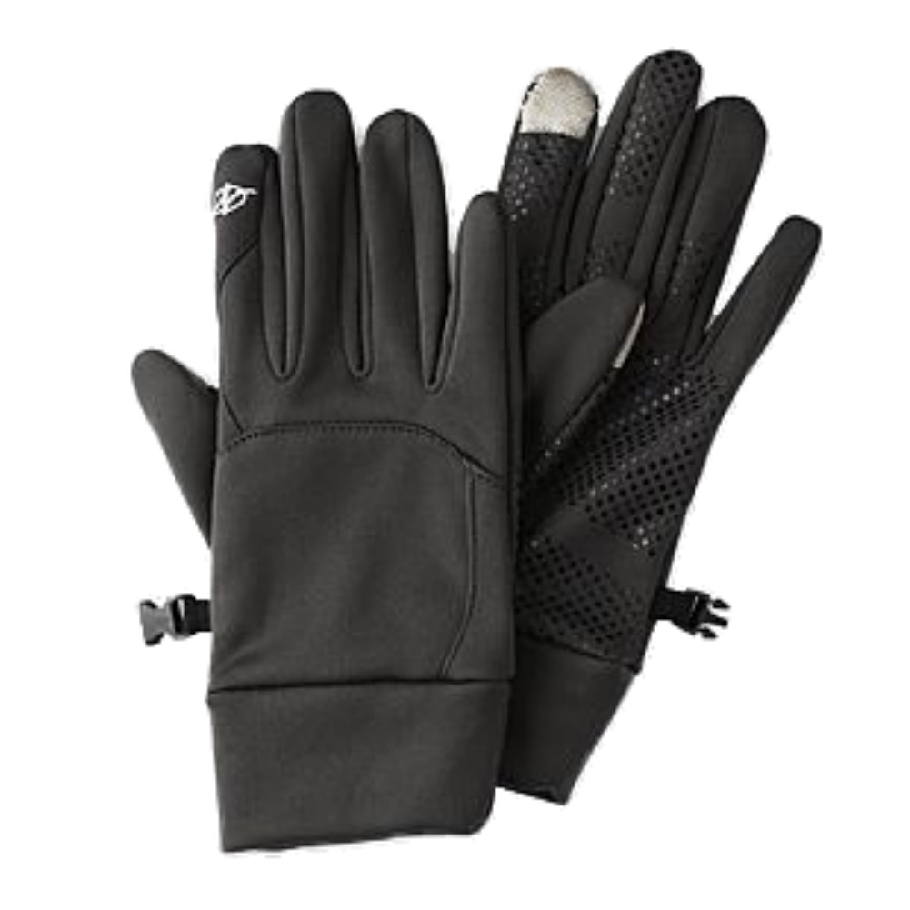 Nordic Track Mens Gray Stretch Fit Texting Gloves