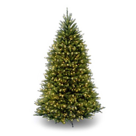 National Tree Pre-Lit 9 Dunhill Fir Hinged Artificial Christmas Tree with 900 Multi Lights
