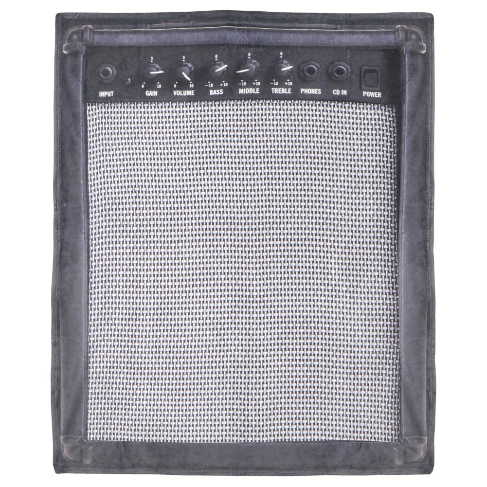 Photorealistic Guitar Amp Throw Blanket