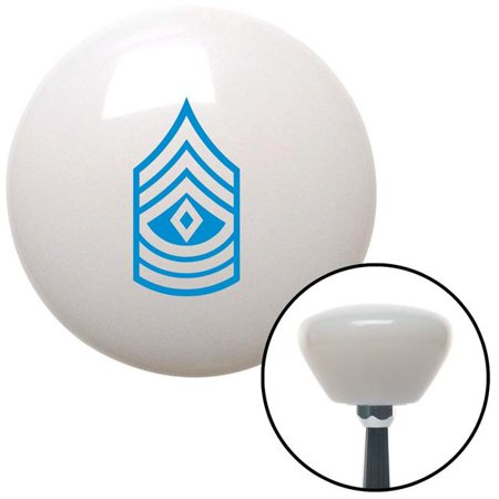 Blue First Sergeant White Retro Shift Knob with M16 x 1.5 Insert Shifter Auto Brody - image 1 of 1
