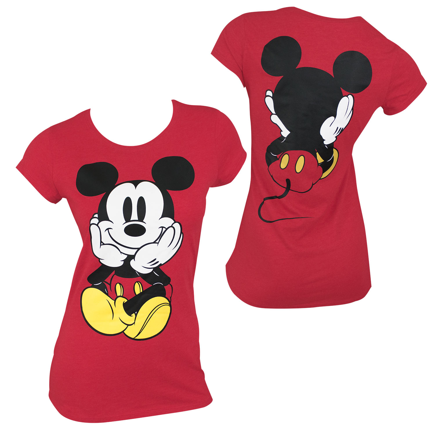Front and Back Women's Red Tee Shirt