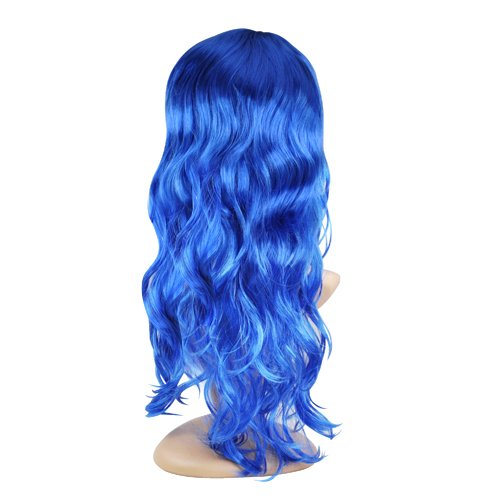 Yaheetech Adult Halloween Wig Long Wavy Curly Cosplay Wig,Great Attach To Party Fancy Dress,Purple