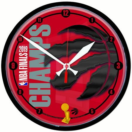 Toronto Raptors WinCraft 2019 NBA Finals Champions 13'' Round Clock - No Size