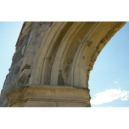 LAMINATED POSTER Arch Curve Broken Ancient Ruins Section Old Poster Print 24 x 36